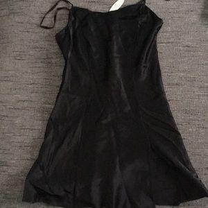 NWT Victoria's Secret Black 100% Silk slip XS